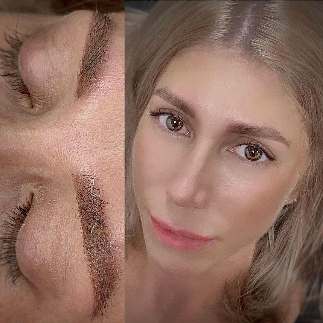 Перманентный макияж бровей без фотошопа спустя 3 года | Хабаровск