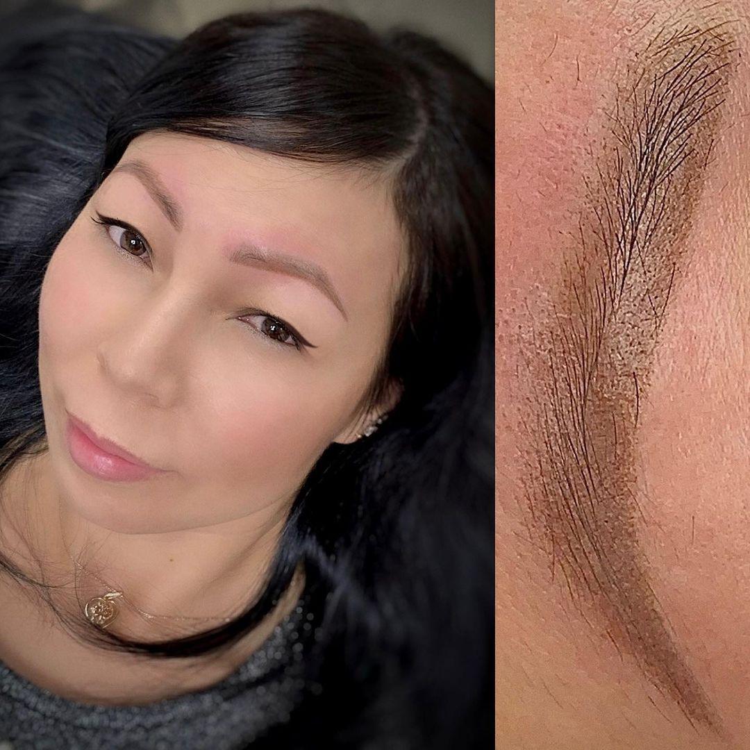 Отзыв о перманентном макияже бровей в Хабаровске | Азиатская внешность