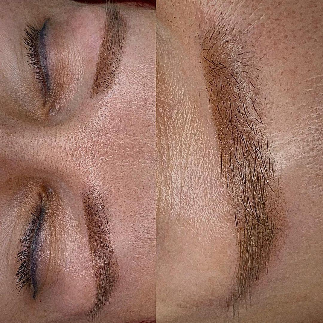 Перманентный макияж бровей после коррекции в Хабаровске