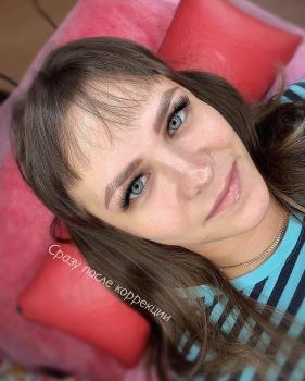 Перманентный макияж бровей после коррекции | Глущенко Оксана | в Хабаровске