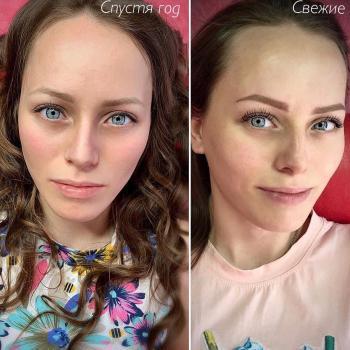 Перманентному макияжу бровей больше года|Хабаровск