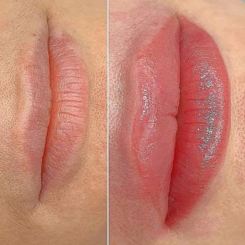 Нюдовые губы после первичной процедуры | Хабаровск | Глущенко Оксана