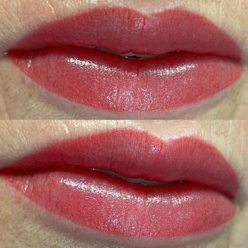Перманентный макияж губ после коррекции в Хабаровске   Глущенко Оксана