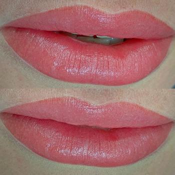 Перманентный макияж губ до и после в Хабаровске