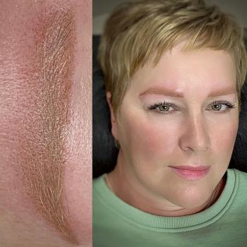 Перманентный макияж бровей со светлыми волосками | Хабаровск
