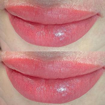 Перманентный макияж губ сразу после коррекции | Хабаровск