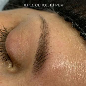 Перманентный макияж бровей без фотошопа спустя 3 года   Хабаровск